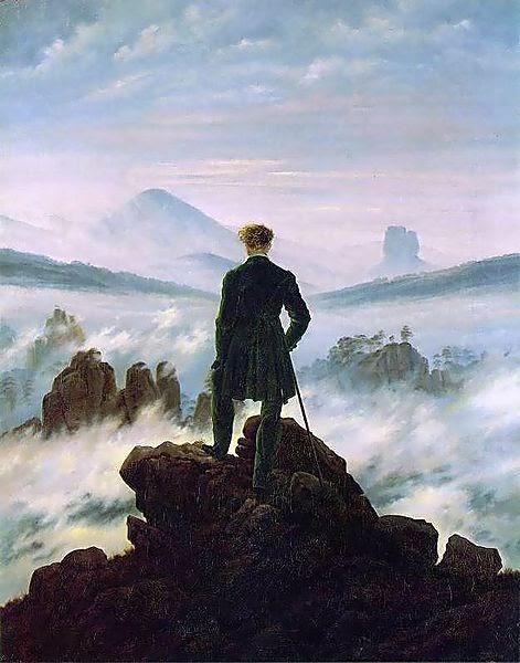 Caspar David Friedrich - o Viajante sobre o mar de névoa