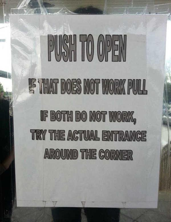 Door-instructions